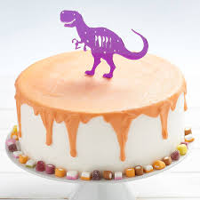 Personalised T Rex Dinosaur Birthday Cake Topper By Owl Otter