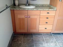 ikea kitchen made into custom bathroom vanity
