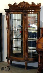 antique curio cabinet image 2 antique curio china cabinet curved glass antique corner curio cabinet