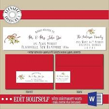 Christmas Gift Labels Templates Word Christmas Address Labels Word Template