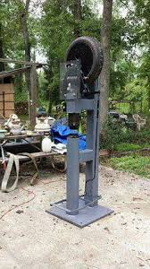 blacksmith power hammer for sale. homemade power hammer! clay spencer / ray clontz style tire hammer, 1hp 110 220 volt farm motor, 6 inch diameter anvil, 4140 dies, 24 square inch\u2026 blacksmith hammer for sale