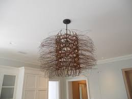 wire scupture light fixture