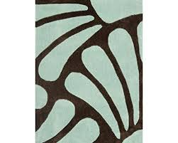 runners safavieh modern art collection mda613a handmade contemporary fl brown and blue polyester area rug 2 6 x 4