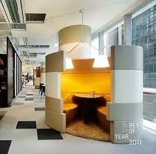 pods office. I Like The Warmth Of Colour Inside Pod Compared To Outside - SP Ogilvy \u0026 Mather Office By WOHA Pods