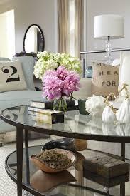flowers books on coffee table jillian harris
