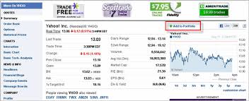 yahoo finance portfolio. Beautiful Portfolio The Current Ticker To Your Portfolio Other Tool Box Links Such As Set  Alert Download Data Are Now Available On Bottom Right Corner Of Page In Yahoo Finance Portfolio S