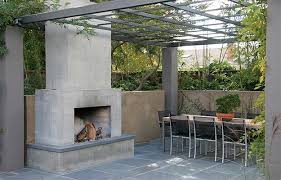 modern outdoor fireplace concrete outdoor fireplace outdoor fireplace huettl thuilot landscape architecture construction