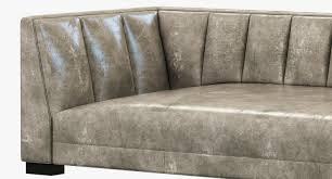 Leather Couch Restoration Restoration Hardware Modern Paxton Leather Sofa 3d Model Max Obj
