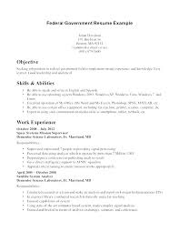 Ms Office Resume Templates 2012 Professional Federal Resume Template