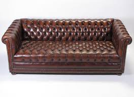 ethan allen chesterfield leather sofa sold for 800estimate 800 1200view bid historysell a similar item chesterfield furniture history