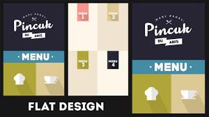 Design A Menu Free Flat Design Restaurant Menu Free Download Template Speedart Photoshop