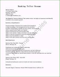 Bank Teller Description For Resumes Bank Teller Resume Awesome Resume Samples Banking Teller