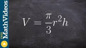 algebra 1 how to solve a literal equation for a formula v π 3 r 2 h