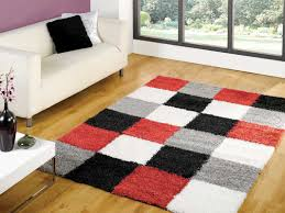 nordic andes red grey rug