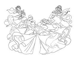 Cute Disney Princess Color Pages For Kids All Coloring Pages Disney