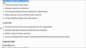 Software Architect Sample Resume Format Youtube
