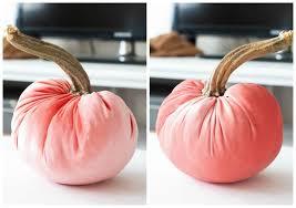 diy velvet pumpkins just like the pros c velvet pumpkin on white surface front and back