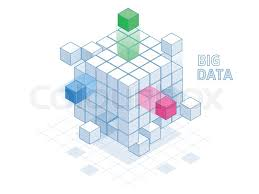 Data Cube Isometric Abstract Big Data Cube Box Stock Vector