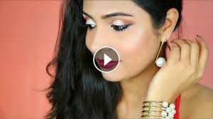 glamorous red gold party makeup indian wedding makeup shrutiarjunanand ad