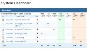 timecard hours timesheet reports and gadgets atlassian marketplace