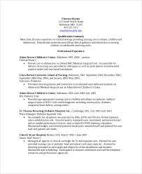 Sample Nursing Resume 7 Documents In Pdf Word