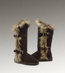 Snow boot · UGG Fox Fur Tall 1984 Chocolate Boots For Sale ...