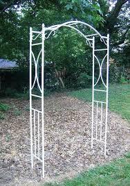 wrought iron garden arch with gate dollar garden metal archway