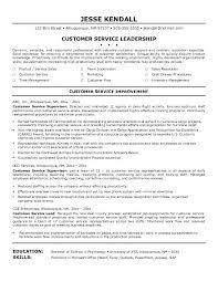 Customer Service Resume Skills Customer Service Representative