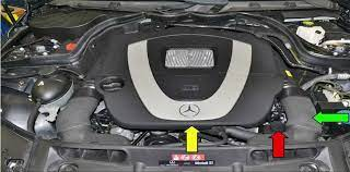 It is near the steering column in the engine compartment. How To Fill And Bleed Power Steering System For Mercedes Benz W204auto Repair Technician Home