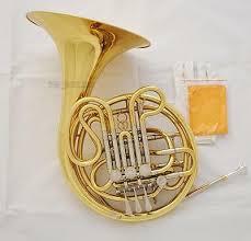 Professional Gold Lacquer Double <b>French</b> Horn <b>F</b>/<b>Bb 4 Key</b> 12.2 ...