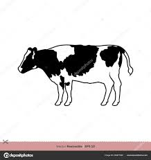 Cow Template Cow Print Template Vector Cow Print Logo Template Stock