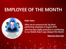 Employee Of The Month Template With Photo Employee Spotlight