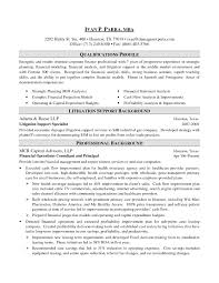 Investment Banking Profile Resume Resume Example Investment Banking
