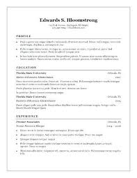 Word Resume Template 2007