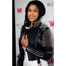 kali hawk studded black leather biker jacket
