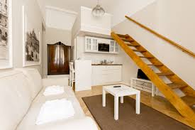 Large studio apartments 250 Ashland Place Romantic 30 Sqm Large Studio Apartment With Courtyard View Queen Size Bed 160 200 Cm Is On The Mezzanine And Foldable Sofa Bed In The Living Area Lisianthus Apartments Studio