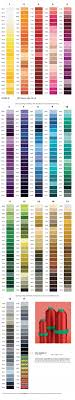 Isacord Color Chart Amann Isacord 40 Thread Color Chart Embroidery Supplies