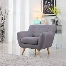 mid century modern style sofa love seat red grey yellow blue 1 seat 2 seat 3 seat grey 1 seater by divano roma furniture