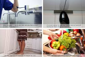 lady washing vegetables using hand free kitchen faucet