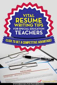 How To Write A Special Education Teacher Resume Or Cv Curriculum