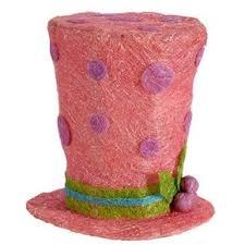 pre lit christmas pink top hat 12
