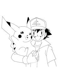 pikachu coloring a1360 cartoon coloring ash and coloring pages ash and coloring pages print outs and pikachu coloring s6058 coloring page