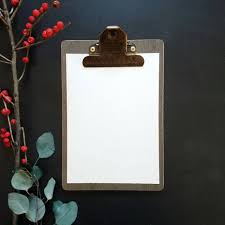 Set Of 6 Ready To Ship Bulk Wooden Clipboards Black