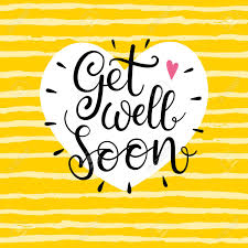 Get Well Soon Poster Get Well Soon Text Lettering For Invitation And Greeting Card