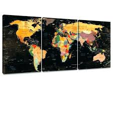 cow canvas painting hobby lobby world map wall decor art mi black paintings 3 pieces of