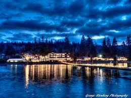Alderbrook Lights Alderbrook Resort And Spa Christmas Lights At Twilight
