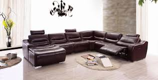 esf 2144 modern dark brown genuine italian leather sectional sofa recliner lhc reviews esf
