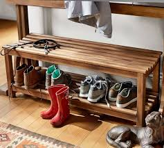 Image Diy Declan Entry Bench Burnished Pine Pottery Barn Entryway Benches Storage Benches Mudroom Benches Pottery Barn