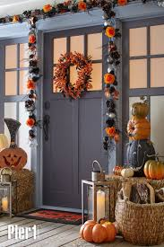 Decorate your porch with Halloween decor from Pier 1, and trick-or-treaters