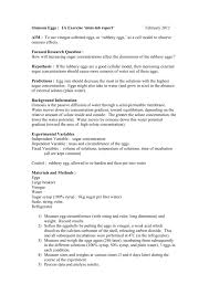 Diffusion And Osmosis Lab Report Osmosis Eggs Ia Exercise Mini Lab Report